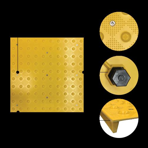 Armor-Tile Tactile System Herculite Series