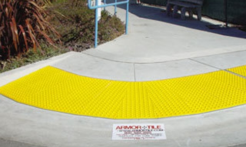 Armor-Tile Surface Applied ADA Curb Ramp