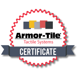 Armor-Tile Tactile System Certificate
