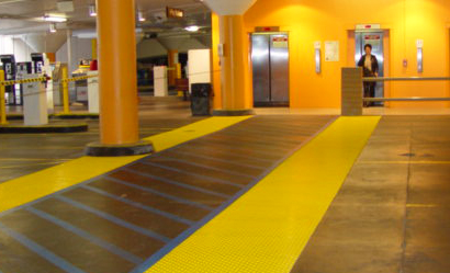 ADA Tiles installed in underground Parking Lot